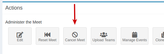 Cancel Meet button